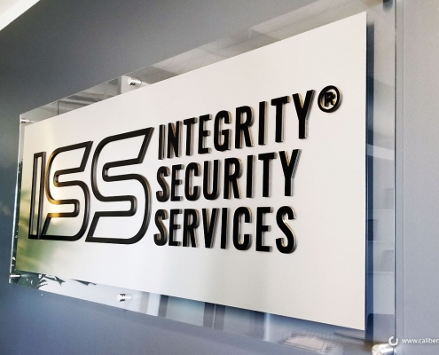 3D Letters on Acrylic Panel Lobby Sign in Orange County CA