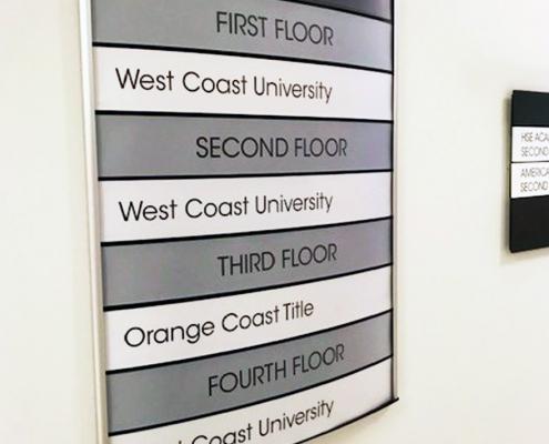 4 Floor Directory Wall Sign Anaheim CA WEB