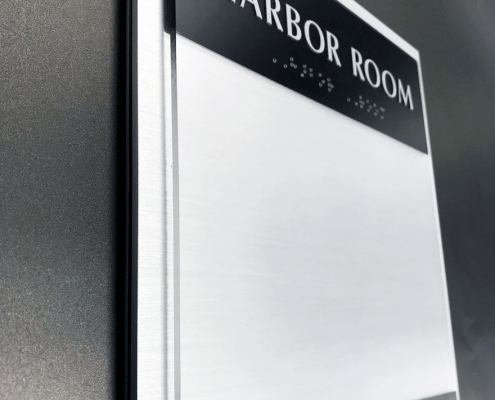 ADA Braille Room Signs with Slider Insert in Orange County CA