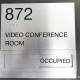 ADA Conference Room Signs with Available and Occupied Slider