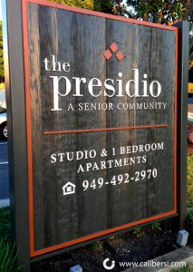 Apartment Property Identity Sign Irvine CA Caliber Signs and Imaging WEB