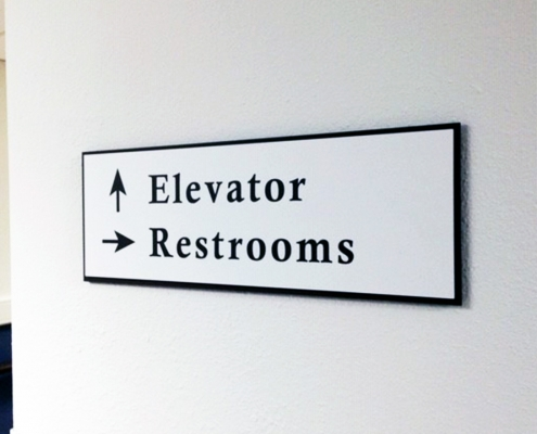 Directional Interior Sign Orange County CA Caliber Signs WEB