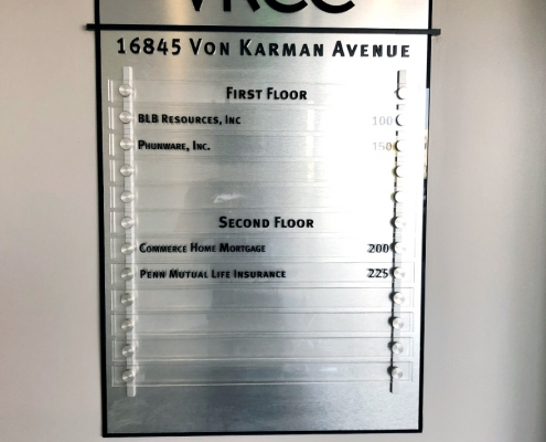 Directory Sign at VKCC Irvine CA WEB