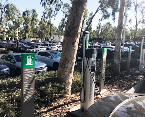 EV Parking Pillar Sign Irvine CA Caliber Signs and Imaging WEB