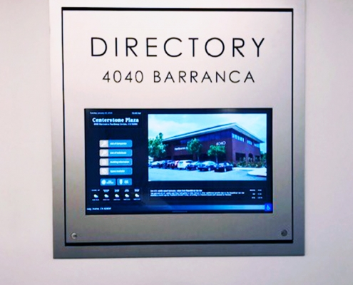 Electronic Directory Sign Orange County CA WEB
