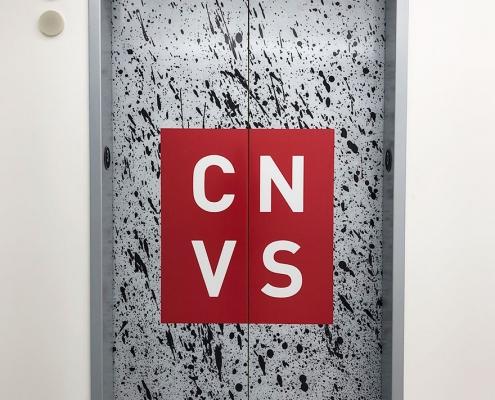 Elevator Door Wrap CANVAS WEB