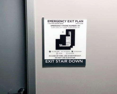 Emergency Exit Plan Sign Irvine CA WEB