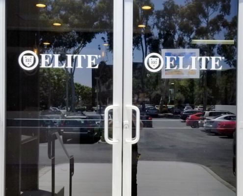 Entrance Door Sign in Vinyl Irvine CA Caliber Signs and Imaging WEB