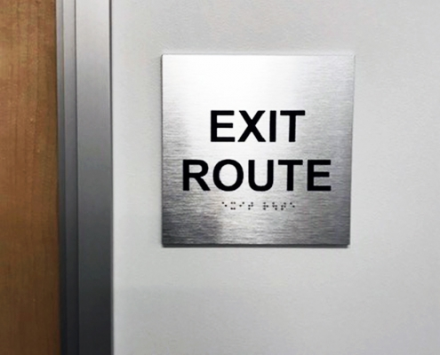 Exit Route Sign Irvine CA Caliber Signs and Imaging WEB