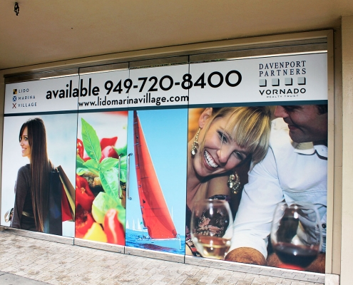For Lease Graphics on Window Sign Irvine CA Caliber Signs and Imaging WEB