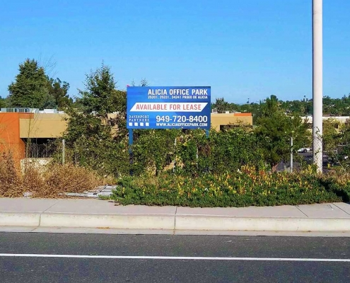 For Lease Property Sign Post and Panel Irvine CA Caliber Signs and Imaging WEB