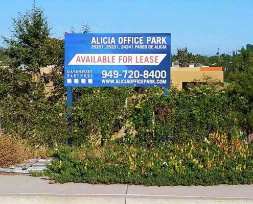 For Lease Property Sign Post and Panel Irvine CA Caliber Signs and Imaging WEB2