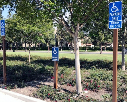 Handicap Parking Sign Irvine CA Caliber Signs and Imaging WEB