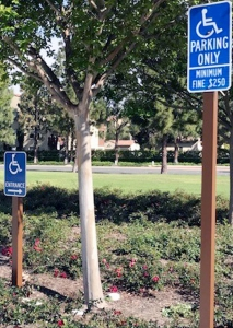 Handicap Parking Sign Irvine CA Caliber Signs and Imaging WEB2