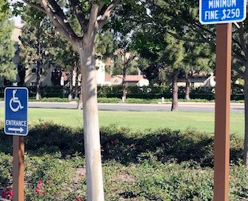 Handicap Parking Sign Irvine CA Caliber Signs and Imaging WEB2