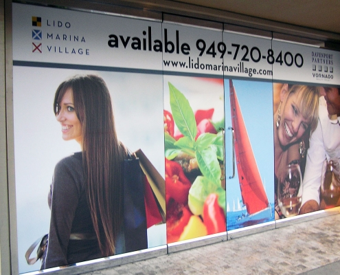 Leasing Graphics Window Signage Newport Beach CA Caliber Signs and Imaging WEB