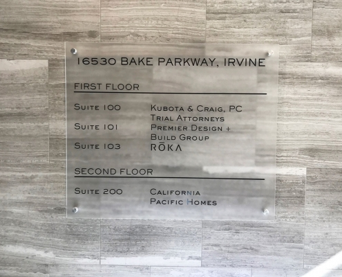 Low Cost Directory Sign Irvine CA Caliber Signs and Imaging WEB