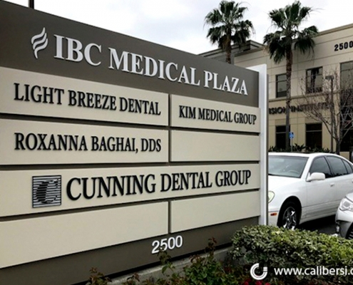 Monument Marquee Sign Irvine CA Caliber Signs and Imaging WEB
