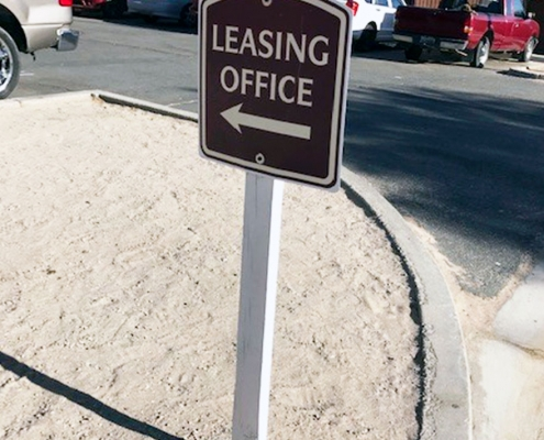 Property Directional Sign Irvine CA Caliber Signs and Imaging WEB
