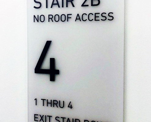 Stairwell Sign Roof Access Irvine CA Caliber Signs and Imaging WEB