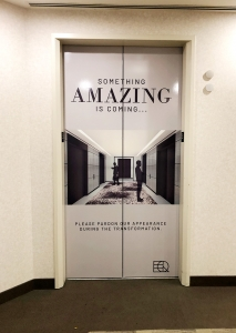 Temporary Elevator Door Wrap Caliber Signs and Imaging WEB