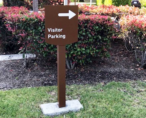 Visitor Parking Sign Irvine CA Caliber Signs and Imaging WEB