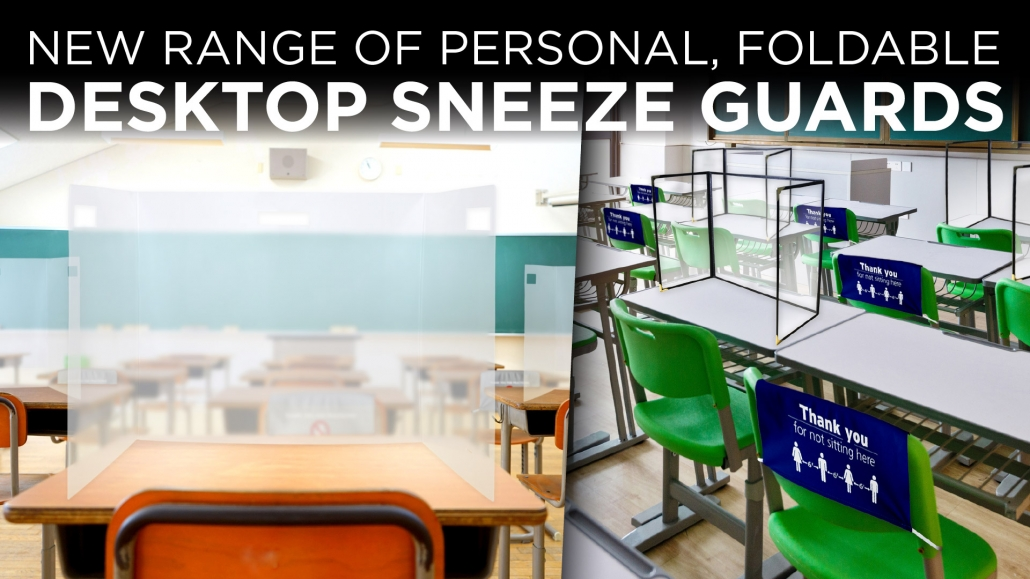 Personal foldable sneeze guards in Orange County CA