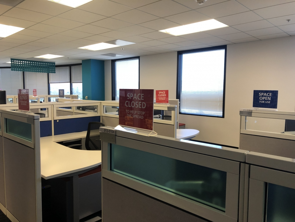 Cubicle Signs for Social Distancing in Orange County CA