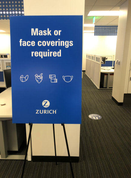 Mask and Face Covering Signs for Offices in Orange County CA