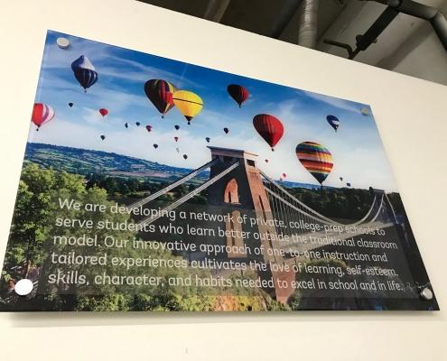 Mission Statement on acrylic