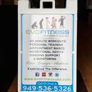 A Frame Sandwich Board Evo Fitness Caliber Signs and Imaging