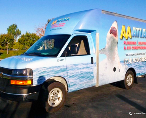 Box Truck Wrap Anaheim CA AA Atlas Caliber Signs and Imaging