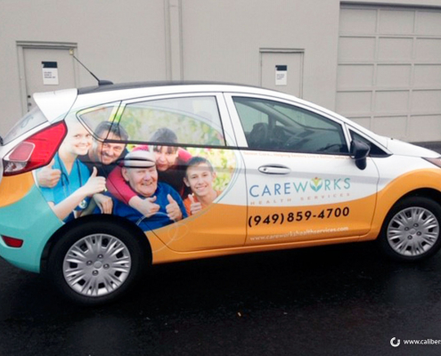 Car Wrap Full Color Graphics Care Works Wrap Irvine CA Caliber Signs and Imaging