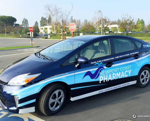 Car Wrap Full Color Vehicle Graphics Newport Coast Pharmacy Newport CA Caliber Signs and Imaging