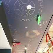Ceiling Graphics Custom Wrap Irvine CA Caliber Signs and Imaging