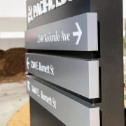 Corporate Monument Directional Sign Pacific Edge Long Beach CA Caliber Signs and Imaging 1