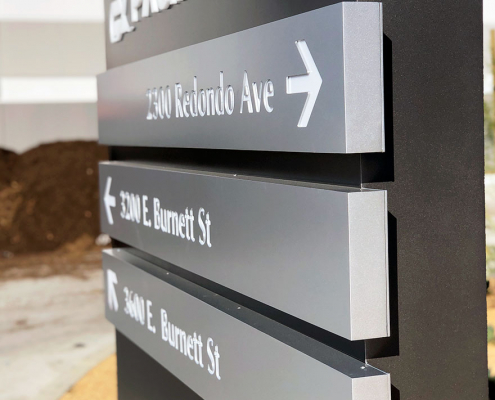 Corporate Monument Directional Sign Pacific Edge Long Beach CA Caliber Signs and Imaging