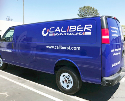 Corporate Vehicle Wrap Van Graphics Irvine CA Caliber Signs and Imaging