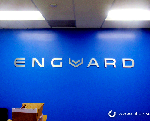 Custom 3D Logo Wall Sign Corporate Logo Enguard Caliber Signs and Imaging
