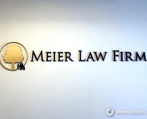 Custom 3D Logo Wall Sign Meier Law Firm Newport Beach CA Caliber Signs and Imaging