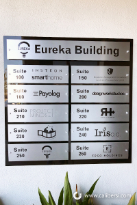 Custom Directory Sign Eureka Building Orange County CA Caliber Signs and Imaging 1