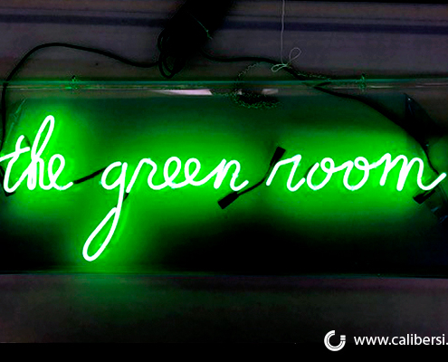Custom Neon Sign The Green Room Staples Caliber Signs and Imaging