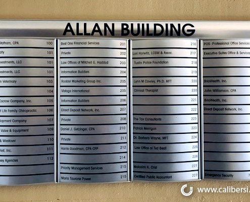 Directory Sign Multi Tenant EMS Development Caliber Signs and Imaging