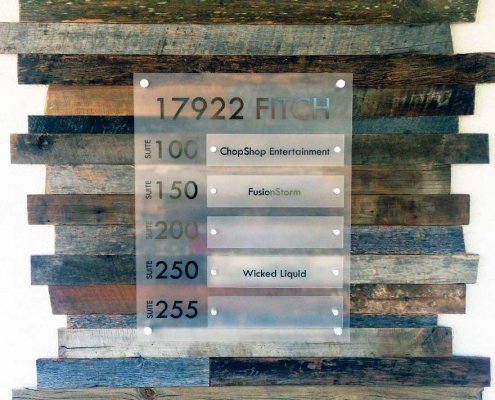 Directory Sign with Wood Backer Sign Caliber Signs and Imaging 1