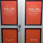 Door Advertising Digital Print Irvine Company Caliber Signs and Imaging