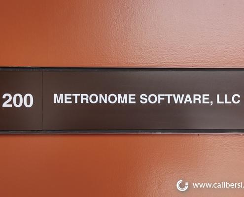 Door Mounted Frame Sign Caliber Signs
