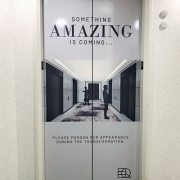 Elevator Door Wrap EQ Office Caliber Signs and Imaging