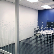 Etched Dots on Window Frosted Windows Caliber Signs and Imaging 1