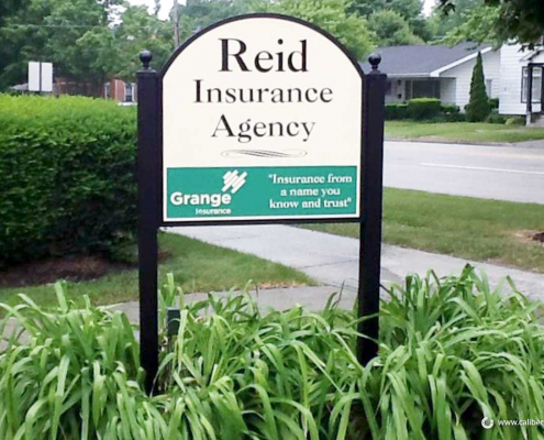 Free Standing Sign Reid Insurance Site Sign Caliber Signs and Imaging 1