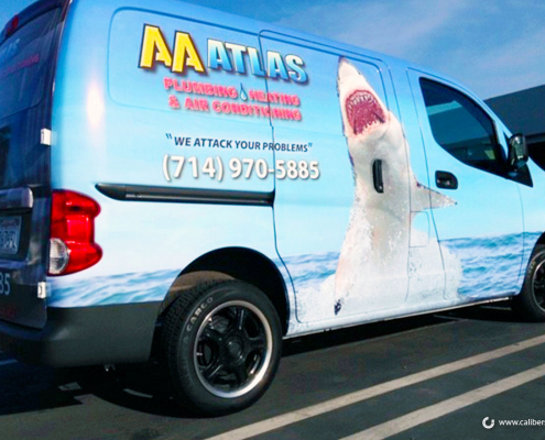 Full Van Wrap High Quality Print AA Atlas Caliber Signs and Imaging
